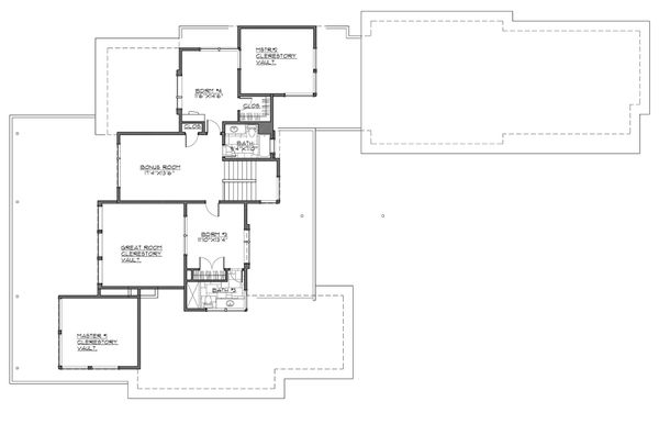 Contemporary Floor Plan - Upper Floor Plan Plan #892-30