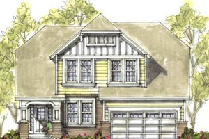 Bungalow Exterior - Front Elevation Plan #20-1232