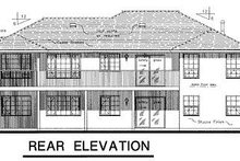 House Design - Ranch Exterior - Rear Elevation Plan #18-121