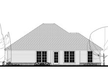 Home Plan - Traditional Exterior - Rear Elevation Plan #430-134