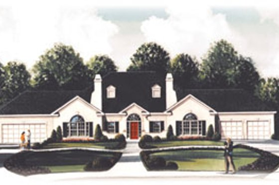 Traditional Exterior - Front Elevation Plan #26-114