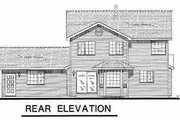 Traditional Style House Plan - 3 Beds 2.5 Baths 1801 Sq/Ft Plan #18-256 Exterior - Rear Elevation