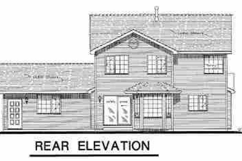 Traditional Exterior - Rear Elevation Plan #18-256 - Houseplans.com