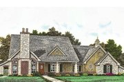 European Style House Plan - 3 Beds 2 Baths 1855 Sq/Ft Plan #310-958 Exterior - Front Elevation