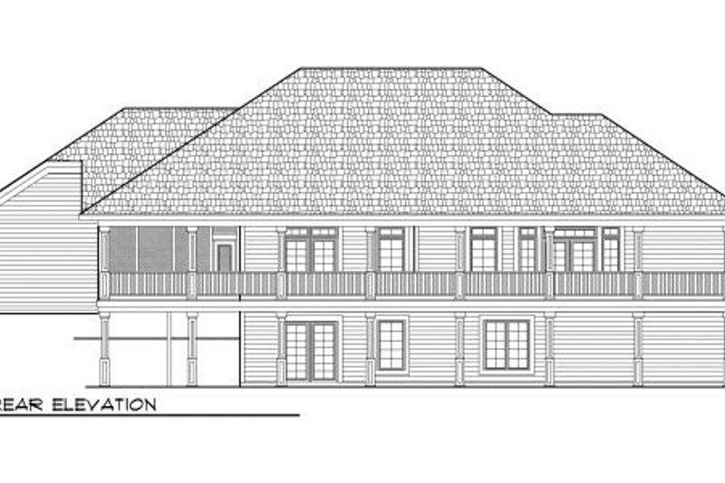 Bungalow Exterior - Rear Elevation Plan #70-980 - Houseplans.com