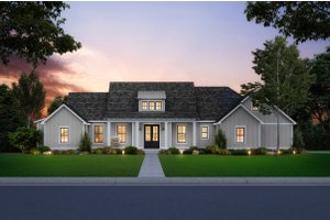 Dream House Plan - Farmhouse Exterior - Front Elevation Plan #1074-10