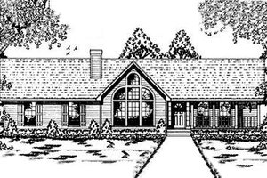 Contemporary Exterior - Front Elevation Plan #42-120
