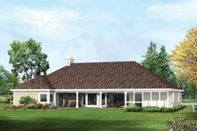House Plan Design - Country Exterior - Rear Elevation Plan #57-689