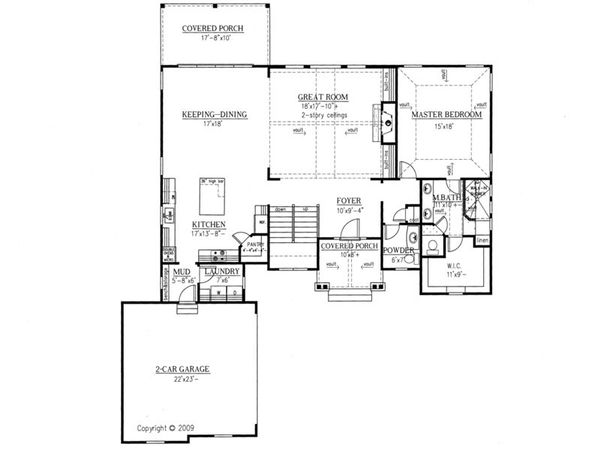 Dream House Plan - Traditional Floor Plan - Main Floor Plan #437-54