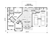 Craftsman Style House Plan - 3 Beds 2 Baths 1399 Sq/Ft Plan #56-618 Floor Plan - Main Floor Plan
