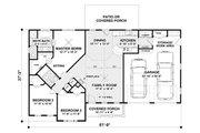Craftsman Style House Plan - 3 Beds 2 Baths 1399 Sq/Ft Plan #56-618 Floor Plan - Main Floor