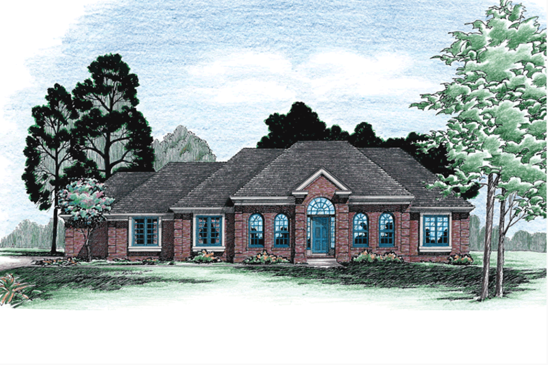 European Exterior - Front Elevation Plan #20-103