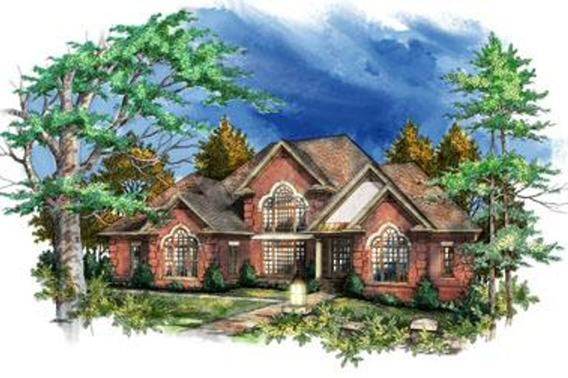 European Style House Plan - 4 Beds 3.5 Baths 3668 Sq/Ft Plan #71-124