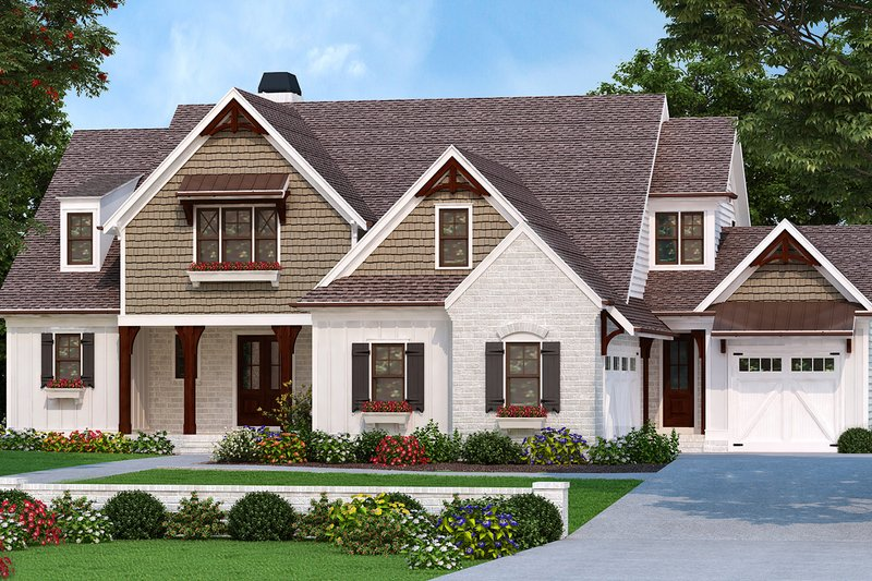Dream House Plan - Farmhouse Exterior - Front Elevation Plan #927-997