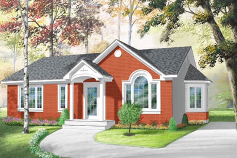 Traditional Exterior - Front Elevation Plan #23-118