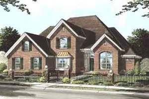 Traditional Exterior - Front Elevation Plan #20-1537