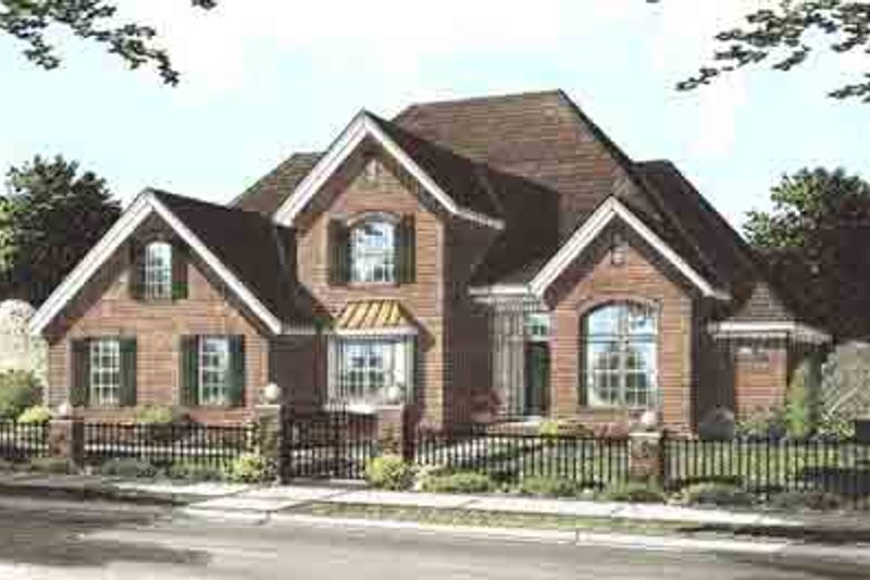 Home Plan - Traditional Exterior - Front Elevation Plan #20-1537