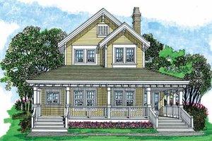 Farmhouse Exterior - Front Elevation Plan #47-421