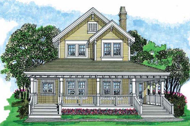 Farmhouse Style House Plan - 3 Beds 2.5 Baths 1479 Sq/Ft Plan #47-421