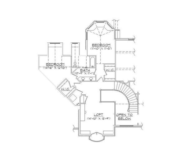 House Plan Design - European Floor Plan - Upper Floor Plan #5-415