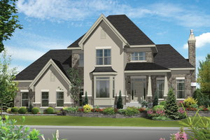 Traditional Exterior - Front Elevation Plan #25-4560