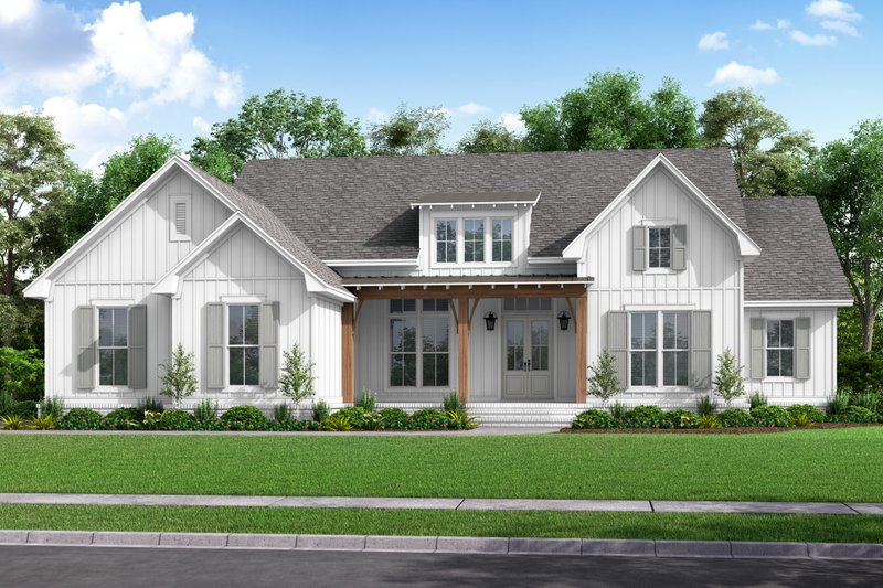 Farmhouse Style House Plan - 4 Beds 2 Baths 2847 Sq/Ft Plan #430-226 Exterior - Front Elevation