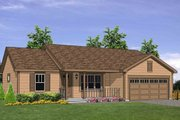 Ranch Style House Plan - 3 Beds 2 Baths 1224 Sq/Ft Plan #116-303 Exterior - Front Elevation