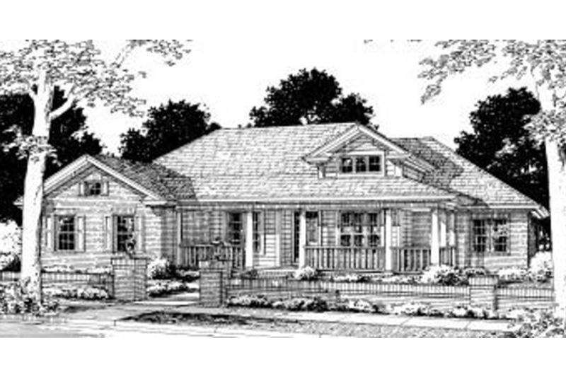 Traditional Exterior - Front Elevation Plan #20-315 - Houseplans.com