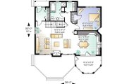 Country Style House Plan - 3 Beds 2 Baths 1468 Sq/Ft Plan #23-2042 Floor Plan - Main Floor Plan