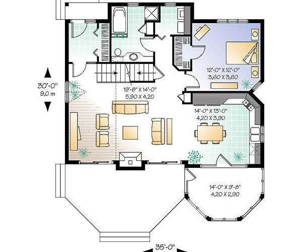 Country Floor Plan - Main Floor Plan Plan #23-2042