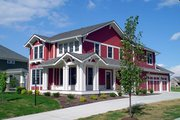 Craftsman Style House Plan - 4 Beds 3.5 Baths 3355 Sq/Ft Plan #458-15 Exterior - Other Elevation