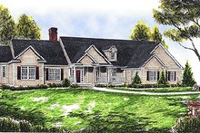 Dream House Plan - Traditional Exterior - Front Elevation Plan #70-344