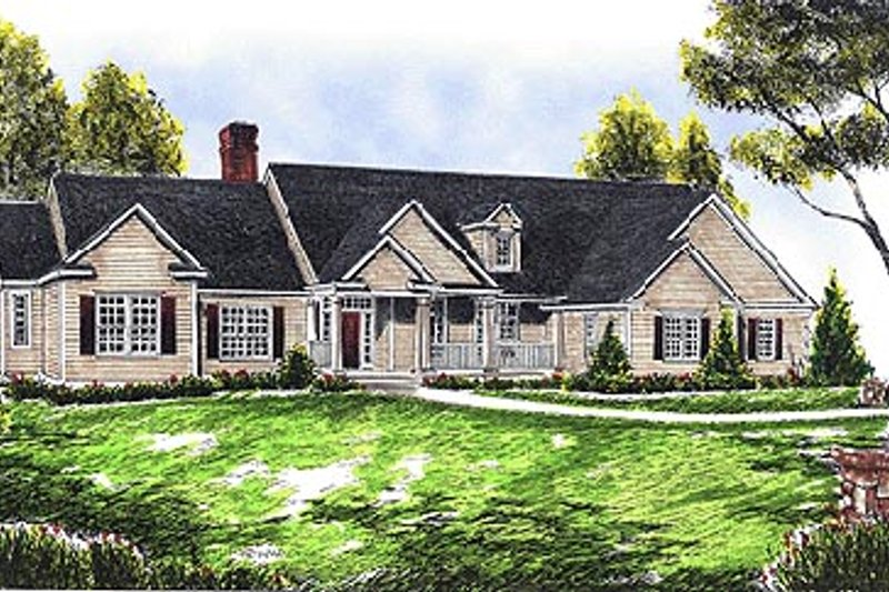 Traditional Exterior - Front Elevation Plan #70-344