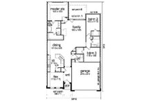 Craftsman Floor Plan - Main Floor Plan Plan #84-266