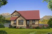Country Exterior - Front Elevation Plan #932-262
