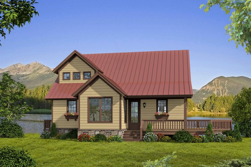 Architectural House Design - Country Exterior - Front Elevation Plan #932-262