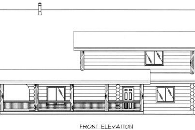 Log Exterior - Other Elevation Plan #117-553 - Houseplans.com