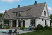 Farmhouse Style House Plan - 4 Beds 4 Baths 3319 Sq/Ft Plan #51-1156 Exterior - Rear Elevation