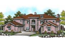 Dream House Plan - Mediterranean Exterior - Front Elevation Plan #70-962