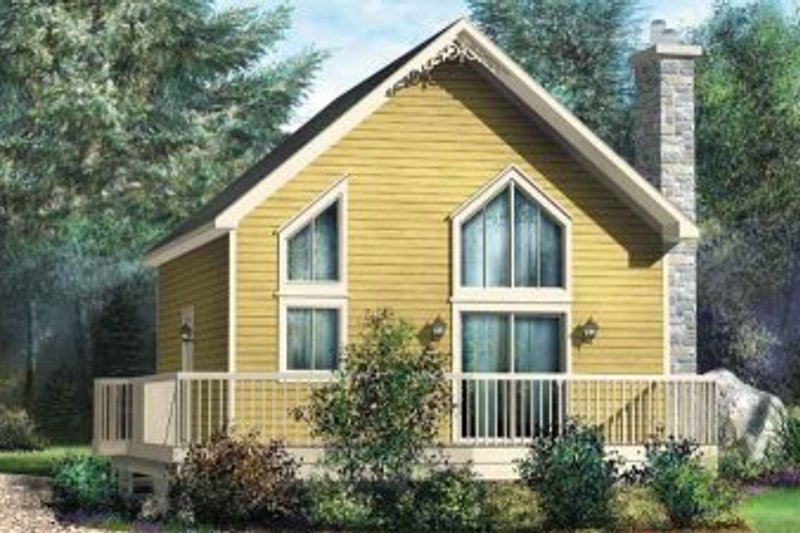 Contemporary Style House Plan - 1 Beds 1 Baths 969 Sq/Ft Plan #25-4199 Exterior - Front Elevation