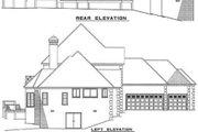 European Style House Plan - 5 Beds 4 Baths 3437 Sq/Ft Plan #17-201 Exterior - Rear Elevation