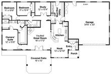 Ranch Floor Plan - Main Floor Plan Plan #124-953