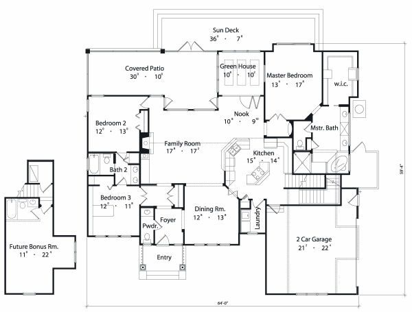 Traditional Floor Plan - Main Floor Plan #417-178