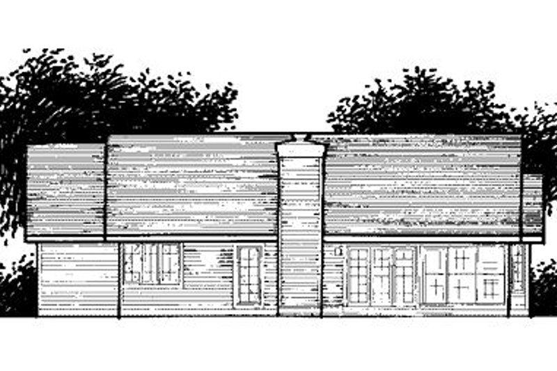 Traditional Exterior - Rear Elevation Plan #320-441 - Houseplans.com