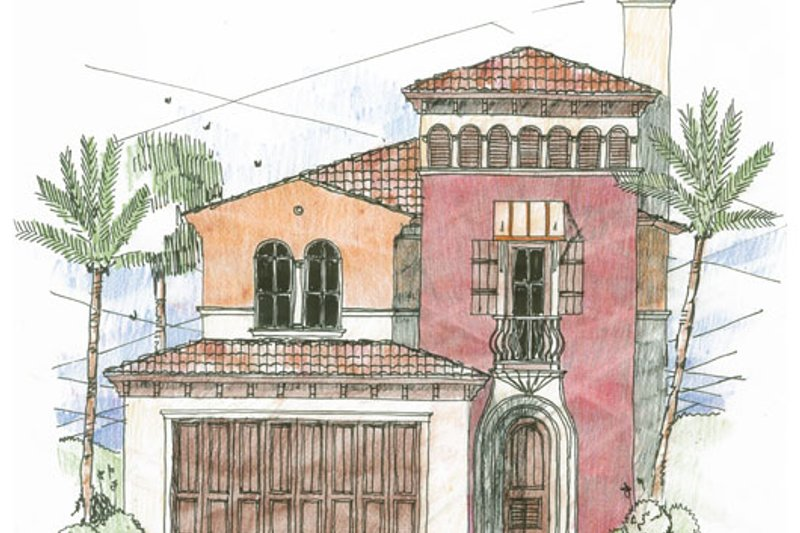Beach Style House Plan - 3 Beds 2.5 Baths 2034 Sq/Ft Plan #426-20