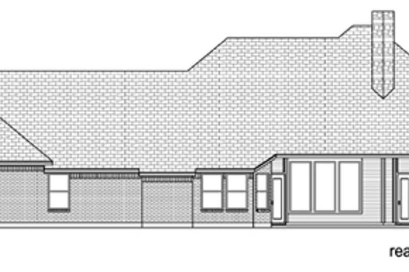 European Exterior - Rear Elevation Plan #84-522 - Houseplans.com