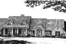 Dream House Plan - Country Exterior - Front Elevation Plan #310-166