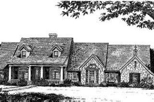 Country Exterior - Front Elevation Plan #310-166