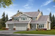 Craftsman Style House Plan - 3 Beds 3 Baths 2512 Sq/Ft Plan #132-111 Exterior - Front Elevation