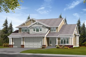 Craftsman Exterior - Front Elevation Plan #132-111